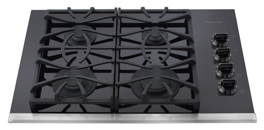 "Frigidaire Gas Cooktop Gallery 30"" Built-In Gas Cooktop - Item Number: FGGC3065KB"