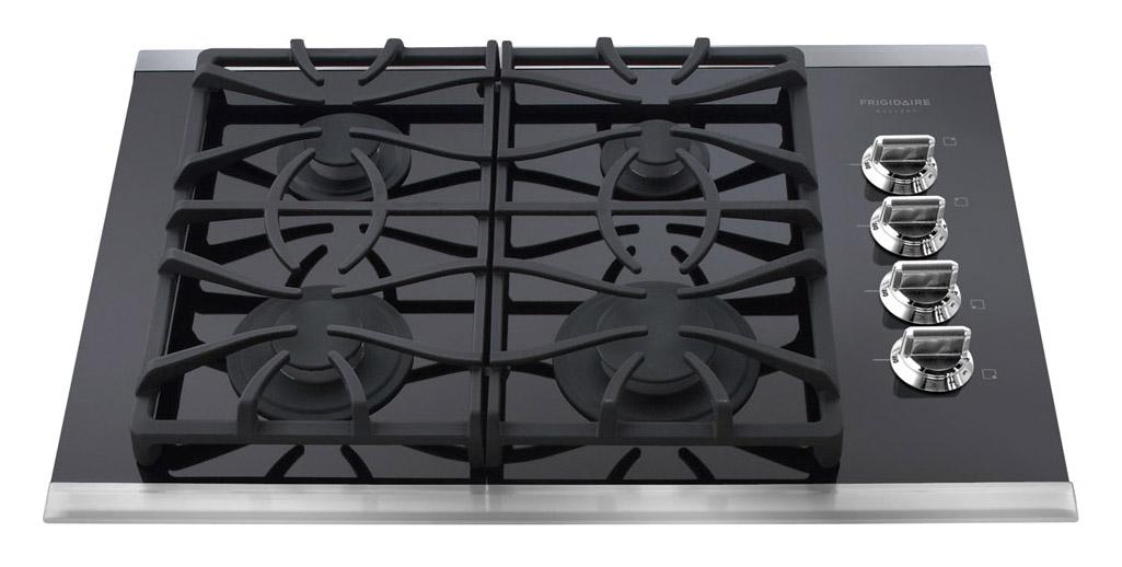 "Frigidaire Gas Cooktop Gallery 30"" Built-In Gas Cooktop - Item Number: FGGC3065KS"