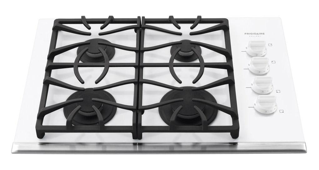 "Frigidaire Gas Cooktop Gallery 30"" Built-In Gas Cooktop - Item Number: FGGC3065KW"