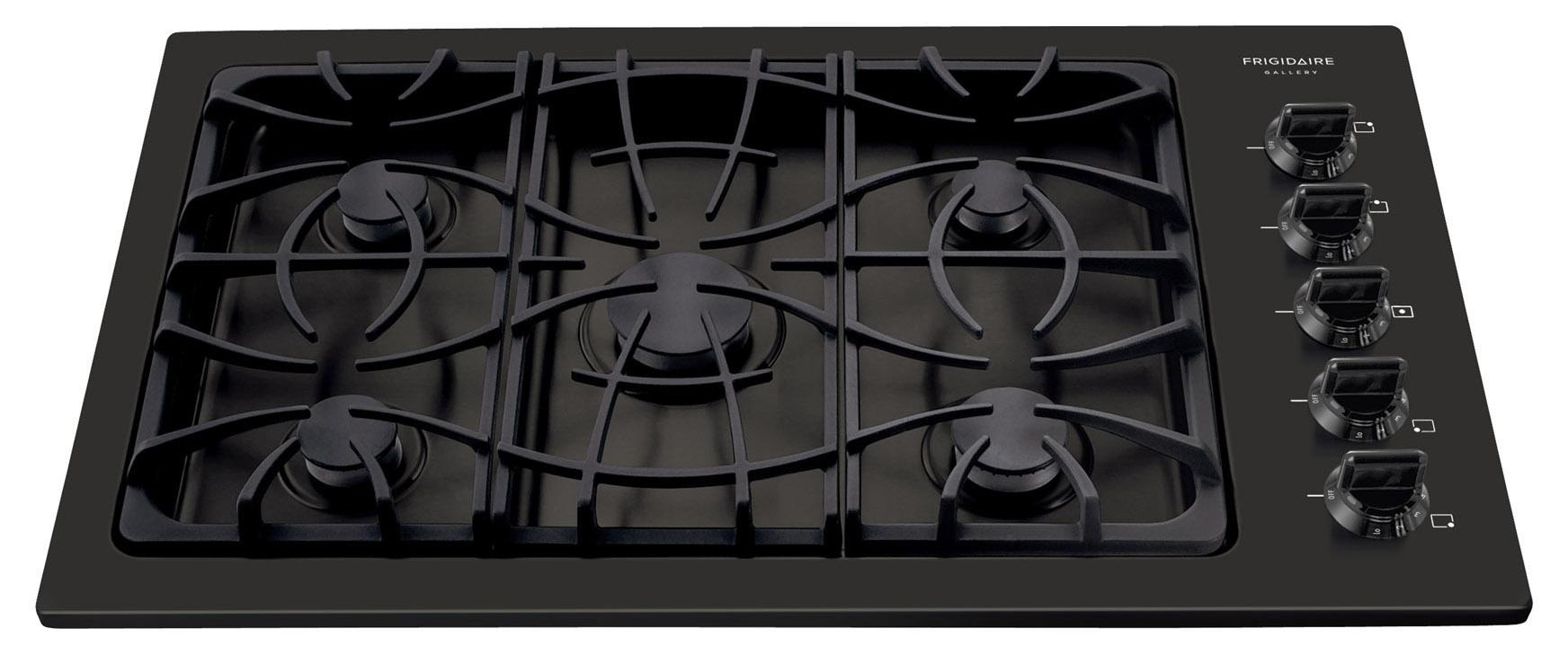 "Frigidaire Gas Cooktop Gallery 36"" Built-In Gas Cooktop - Item Number: FGGC3645KB"