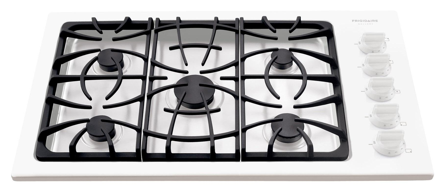 "Frigidaire Gas Cooktop Gallery 36"" Built-In Gas Cooktop - Item Number: FGGC3645KW"
