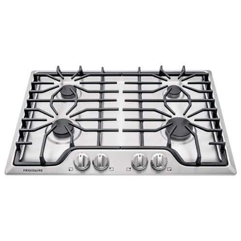 "Frigidaire Gas Cooktops 30"" Gas Cooktop - Item Number: FFGC3026SS"