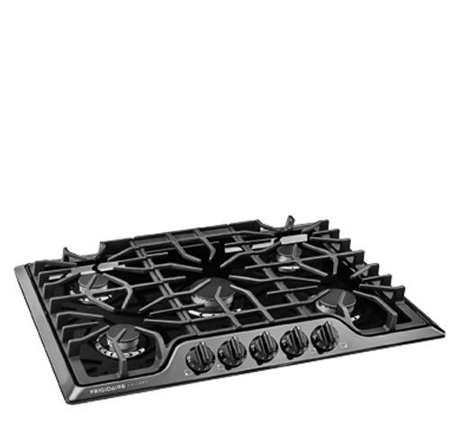"Frigidaire Frigidaire Gallery Gas Cooktops Gallery 30"" Gas Cooktop - Item Number: FGGC3047QB"