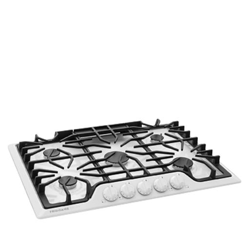 """Frigidaire Frigidaire Gallery Gas Cooktops Gallery 30"""" Gas Cooktop - Item Number: FGGC3047QW"""