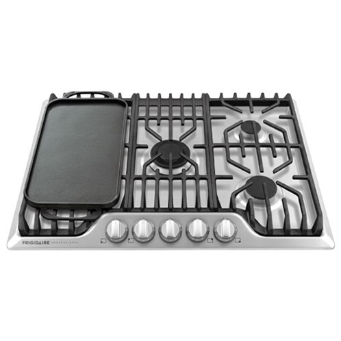 "Frigidaire Professional Collection - Cooktops 30"" Frigidaire Professional Gas Cooktop - Item Number: FPGC3077RS"