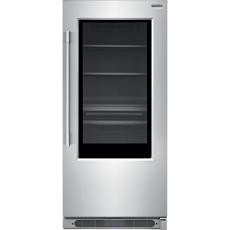 Frigidaire fpgu19f8tf19 cu ft glass door all - Glass door fridge for home ...