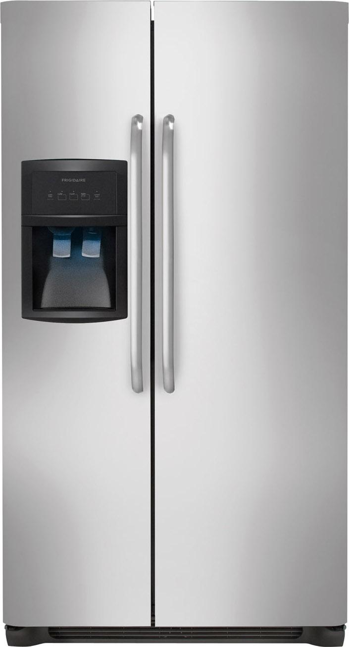 Frigidaire Side-By-Side Refrigerators 26 Cu. Ft. Side-by-Side Refrigerator - Item Number: FFHS2622MS
