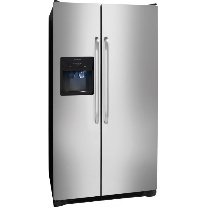 Frigidaire Side-By-Side Refrigerators 26 Cu. Ft. Side-by-Side Refrigerator - Item Number: FFSS2614QS
