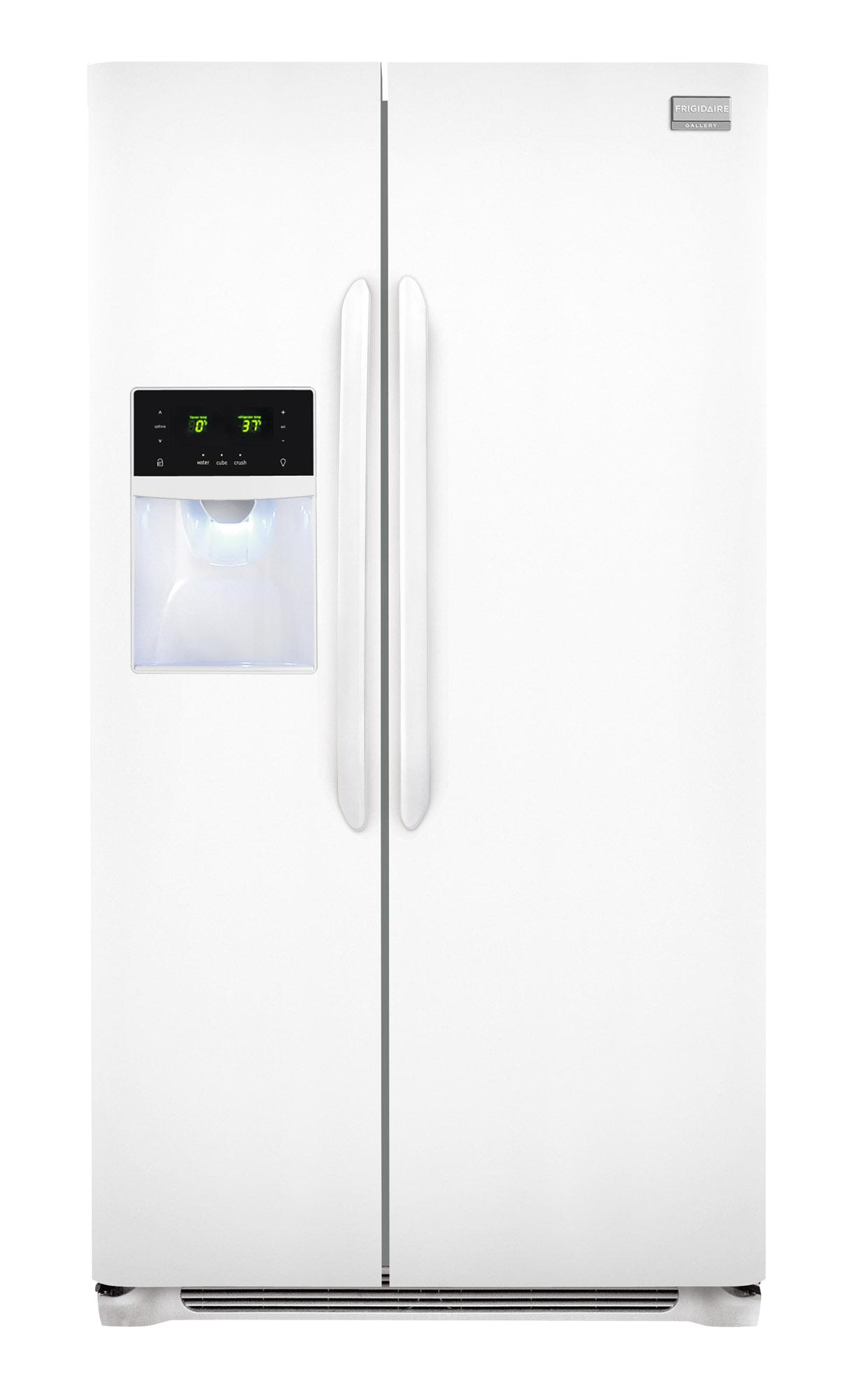 Frigidaire Frigidaire Gallery Refrigerators 26 Cu. Ft. Side-by-Side Refrigerator - Item Number: FGHS2631PP