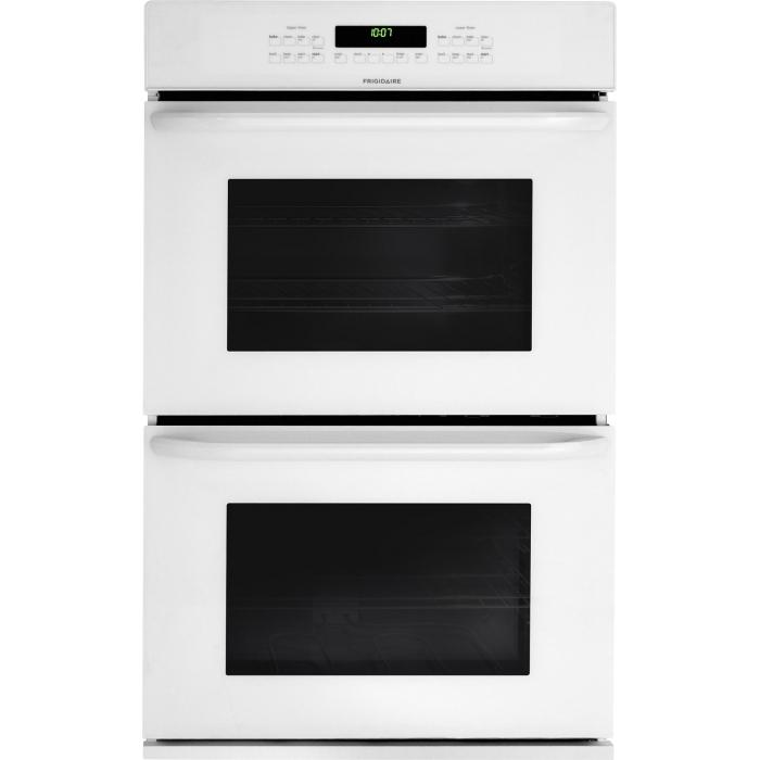 "Frigidaire Electric Wall Ovens 30"" Built-In Double Electric Wall Oven - Item Number: FFET3025PW"