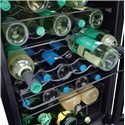 Frigidaire Wine Coolers 3.9 Cu. Ft. Wine Cooler with 35 Bottle Capacity - Black Soft-Coat Wireform Racks