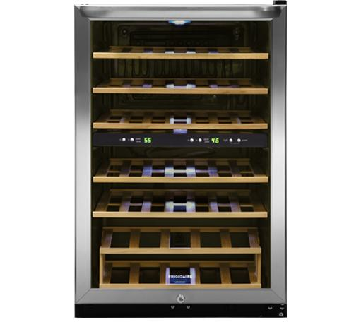 Frigidaire Wine Coolers 38 Bottle Two-Zone Wine Cooler - Item Number: FFWC3822QS