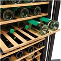 Frigidaire Wine Coolers 4.6 Cu. Ft. Two-Zone Wine Cooler with 38 Bottle Capacity - Slide Out Shelves