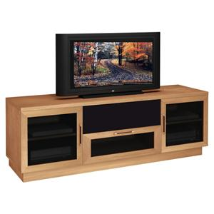 """Furnitech Contemporary 70"""" Contemporary TV Entertainment Console with Center Channel Speaker Compartment"""