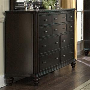 Furniture Brands, Inc. B7067 Transitional Dark Mahogany Storage Dresser