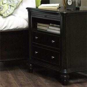 Furniture Brands, Inc. B7067 Transitional 2-Drawer 1-Shelf Nighstand with Charging Station