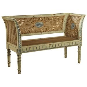 Furniture Classics Accents Bayonne Caned Settee