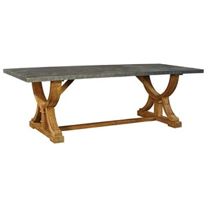 Furniture Classics Accents Zinc Top Dining Table