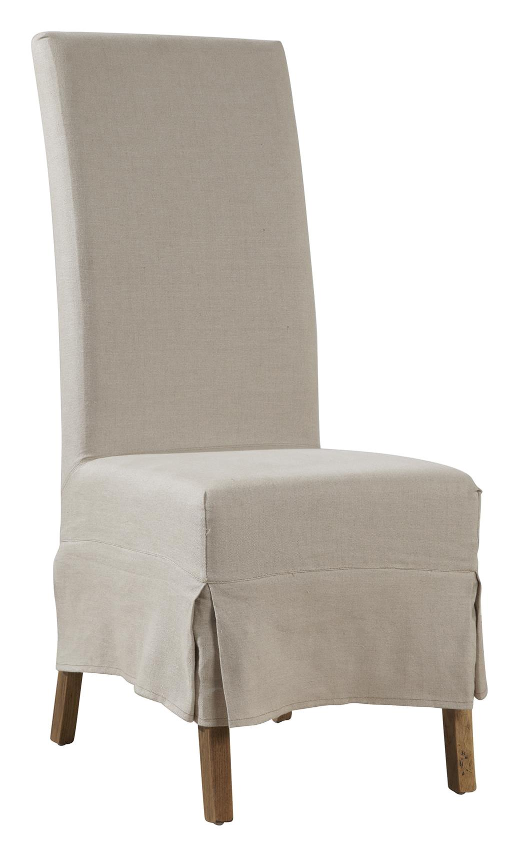 Furniture Classics Accents Linen Slip Covered Parsons Chair - Item Number: 70018