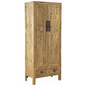 Furniture Classics Accents Old Elm Door Armoire