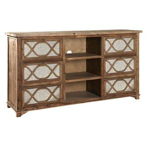 Furniture Classics Accents Large Mirrored Media Cabinet
