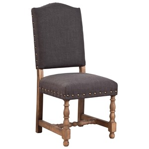 Furniture Classics Accents Linen Madrid Chair with Nailheads