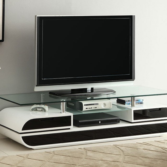 Evos TV Console by Furniture of America at Dream Home Interiors