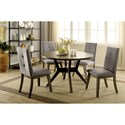FUSA Abelone Table + 4 Chairs - Item Number: CM3354GY-RT-5PC