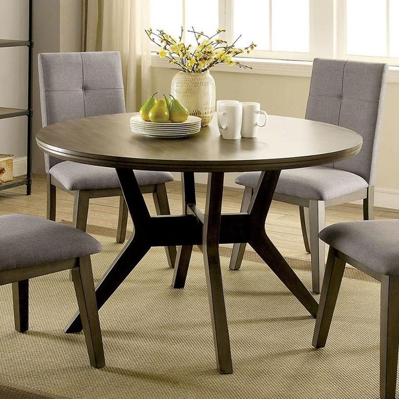 Abelone Round Table by Furniture of America at Nassau Furniture and Mattress