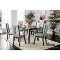 Furniture of America Abelone Table + 6 Chairs - Item Number: CM3354GY-T-7PC