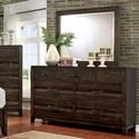 FUSA Agapetos Dresser and Mirror - Item Number: CM7581D+M