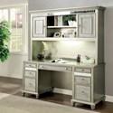 FUSA Aine Desk and Hutch - Item Number: CM-DK908DB-PK+DK908H