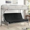 FUSA Alanna Metal Bunk Bed - Item Number: CM-BK932SV