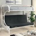 FUSA Alanna Metal Bunk Bed - Item Number: CM-BK932WH