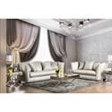 FUSA Alessandra Sofa and Love Seat Set - Item Number: SM2288-2PC