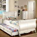 FUSA Alexandra Twin Sleigh Trundle Bed - Item Number: CM7226T-BED+CTR