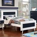 FUSA Alivia Twin Bed - Item Number: CM7850BL-T-BED