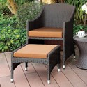 FUSA Almada Outdoor Arm Chair + Ottoman - Item Number: CM-OT2550-AC