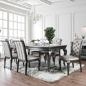 """FUSA Amina 84"""" Dining Table - Item Number: CM3219GY-T"""
