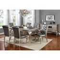 FUSA Amina 7 Piece Dining Set - Item Number: CM3219T-7PC