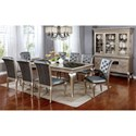 FUSA Amina 9 Piece Dining Set - Item Number: CM3219T-9PC