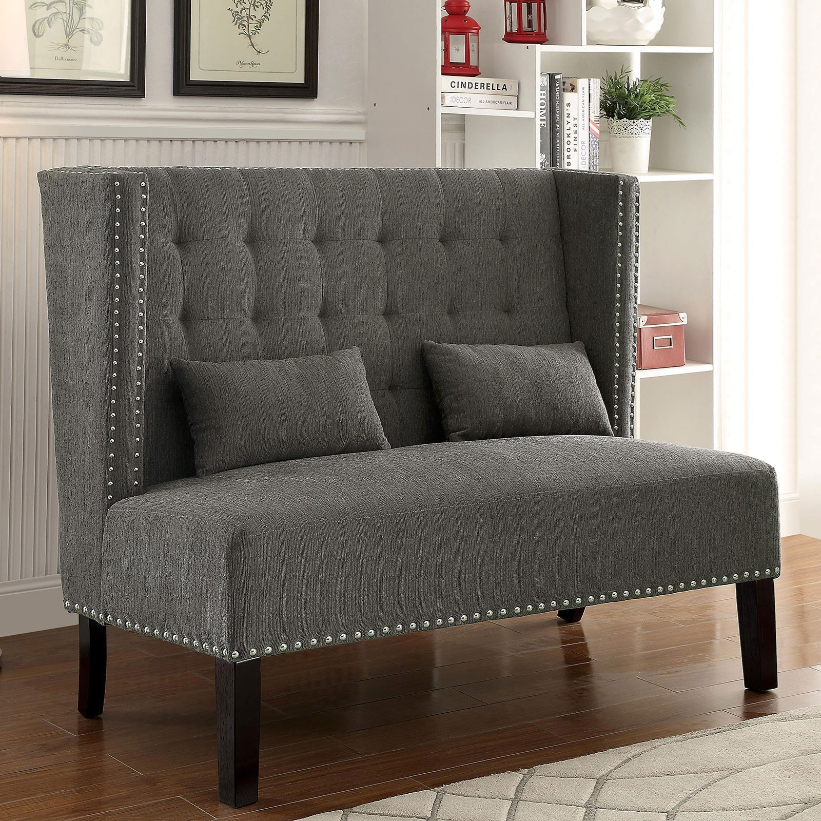 Amora Loveseat w/ Pillows at Household Furniture