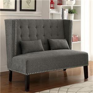 Amora Grey Love Seat