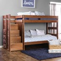FUSA Ampelios Twin/Twin Bunk Bed - Item Number: AM-BK102-BED