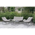 FUSA Amya Loveseat and 2 Chairs and Coffee Table and 2 - Item Number: CM-OC2134-SET