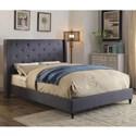 FUSA Anabelle King Bed - Item Number: CM7677BL-EK-BED