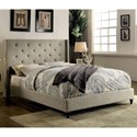 FUSA Anabelle California King Bed - Item Number: CM7677GY-CK-BED