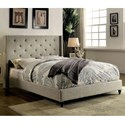 FUSA Anabelle Queen Bed - Item Number: CM7677GY-Q-BED
