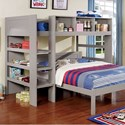 FUSA Annemarie Twin Loft Bed - Item Number: CM-BK965GY-L-BED
