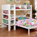 FUSA Annemarie Twin Loft Bed - Item Number: CM-BK965WH-L-BED